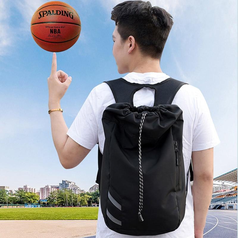 Mochila para hombre, bolsa de baloncesto deportiva funcional con mochila impermeable extraíble, bolsas de viaje de ocio para adolescentes con cordón c67
