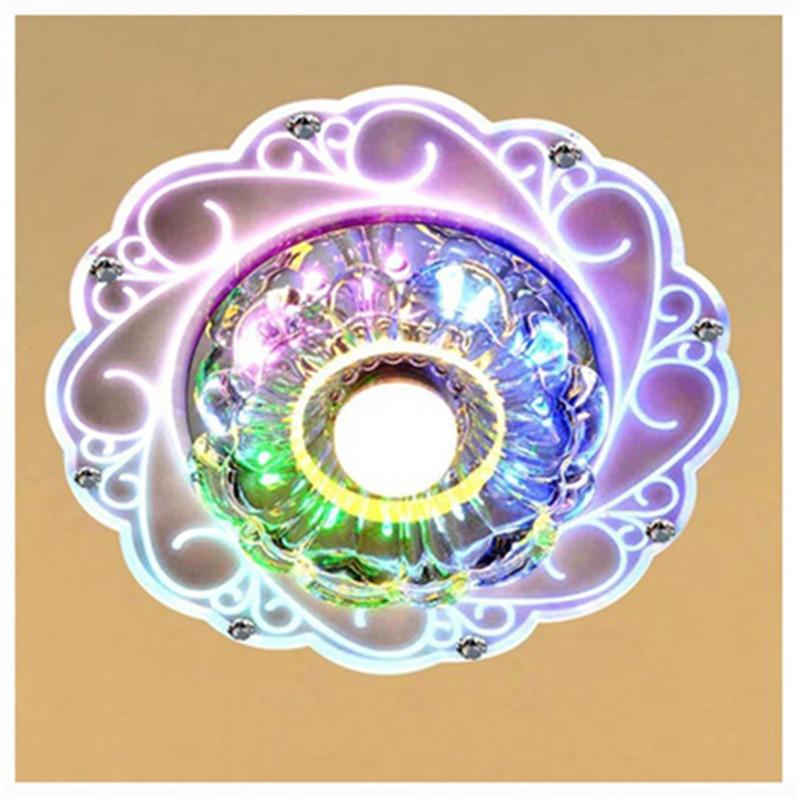 Lámparas de techo de cristal modernas, lámpara de luz brillante de techo con ahorro de luz LED, lámpara de araña con AC85V-265V de ahorro de energía