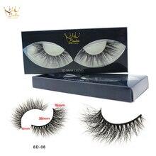 CrownLashes 3D Mink włosów sztuczne rzęsy grube zwinięte pełny pasek rzęsy przedłużanie rzęs moda kobiety makijaż oczu makijaż