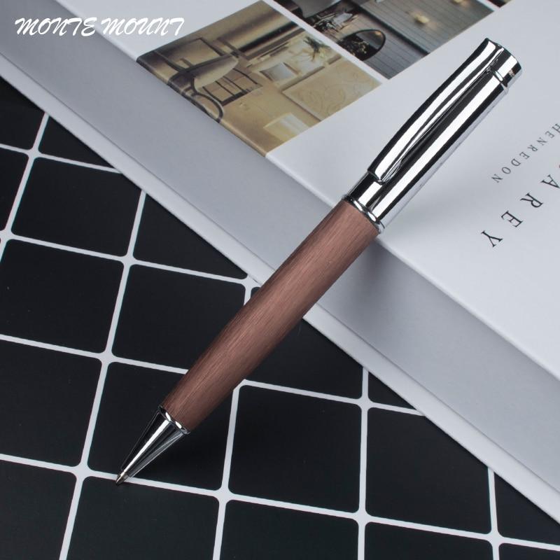1 unids/lote bolígrafo de punta de bola de madera 0,7mm bolígrafo de tinta para escribir al por mayor bolígrafos de escritura de oficina