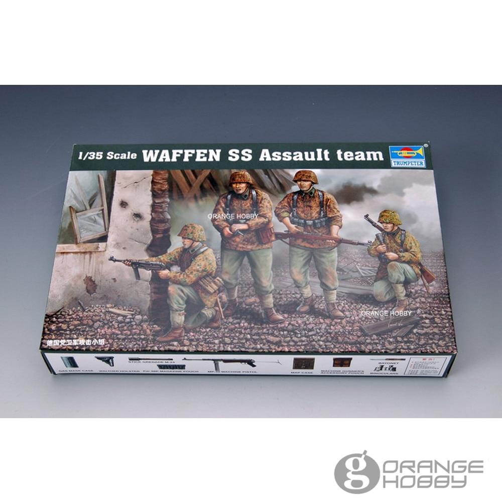 OHS Trumpeter 00405 1/35 Waffen SS Assault, сборные миниатюрные военные фигурки, модельные строительные комплекты