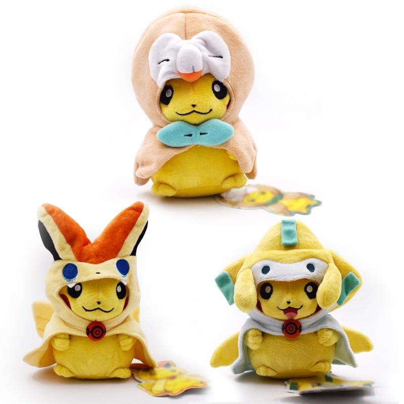 3 estilos/juego 20cm Cosplay Jirachi Victini Rowlet peluches lindos peluches Peluches Juguetes suaves muñeca de dibujos animados