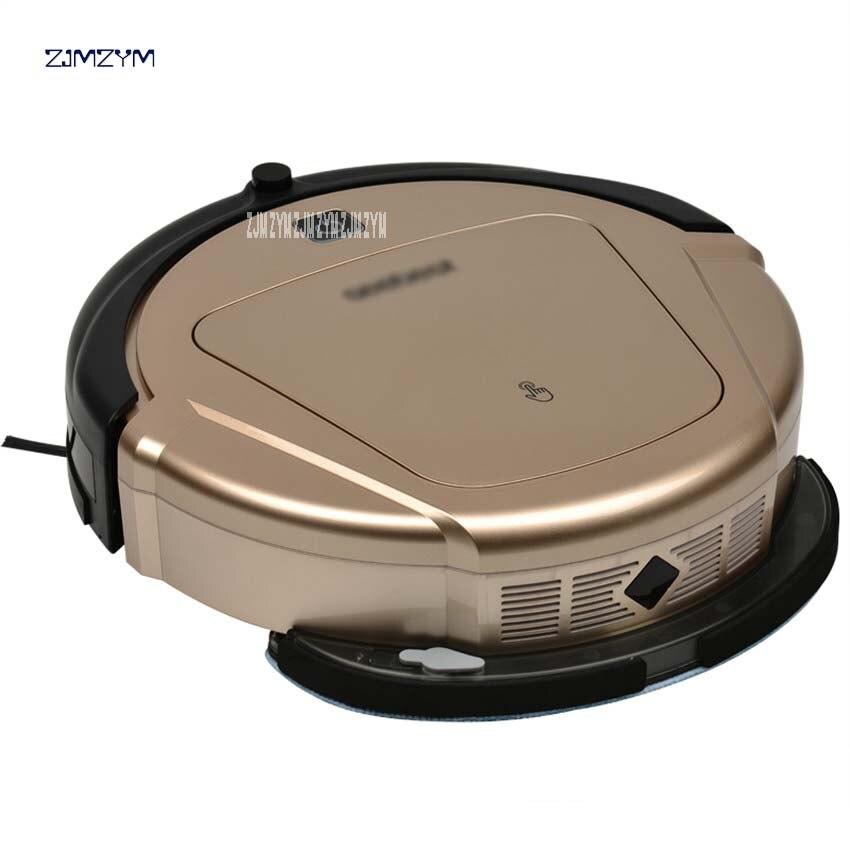 Robot limpiador D750 seco y húmedo con aspiradora con tanque de agua y navegador GPS ruta programada de limpieza, Robot de limpieza 0.5L polvo