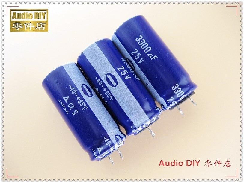 2 uds/10 Uds temprano de la serie S 3300uF 25V 25v3300uf condensador electrolítico
