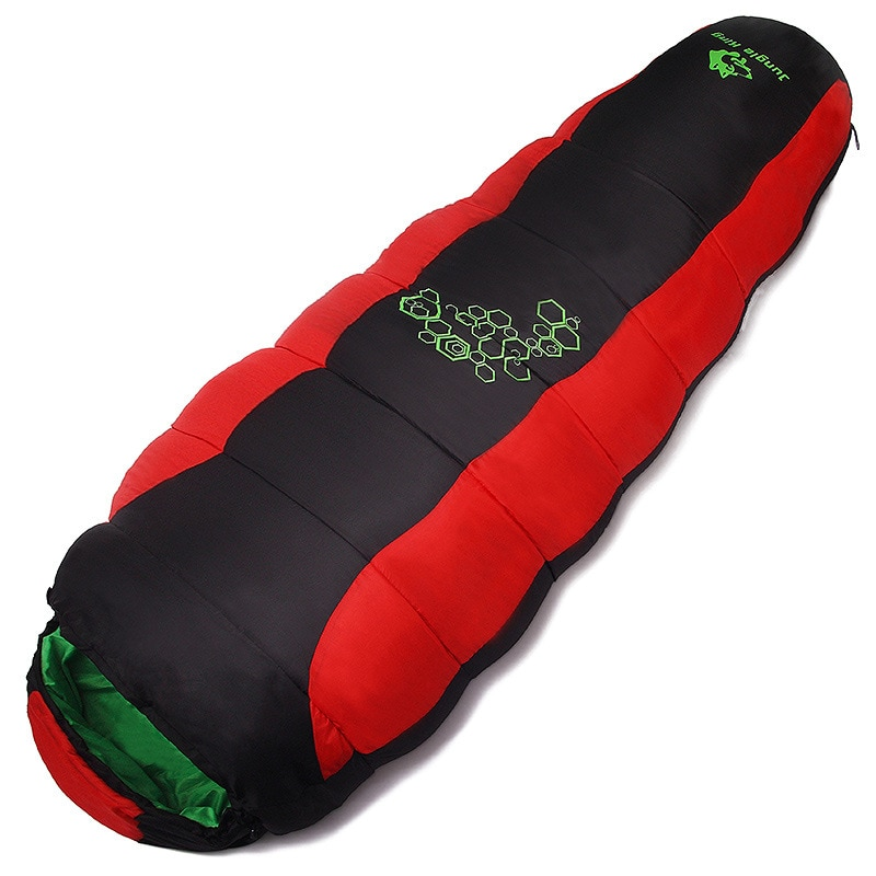 down sleeping bag autumn and winter outdoor adult envelope style thickening thermal duck down sleeping bag 400 1500g filling Jungle King  Winter thickening filling four hole cotton camping sleeping bag outdoor mountaineering camping sleeping bag sports