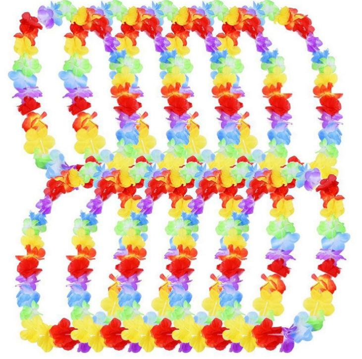 1000 pcs Flor havaiana colares Colar de Flores Do Vestido Extravagante Do Partido da Praia de Havaí Guirlanda Festa De Casamento Fun Presente Decoração SN269