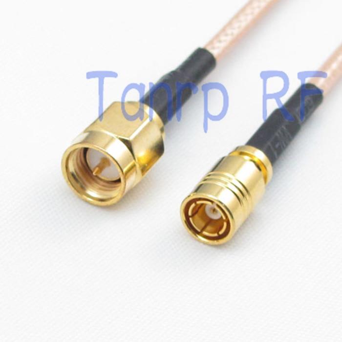 6in SMA macho enchufe a SMB hembra jack conector RF adaptador 15 CM cable de puente coaxial cable de extensión RG316