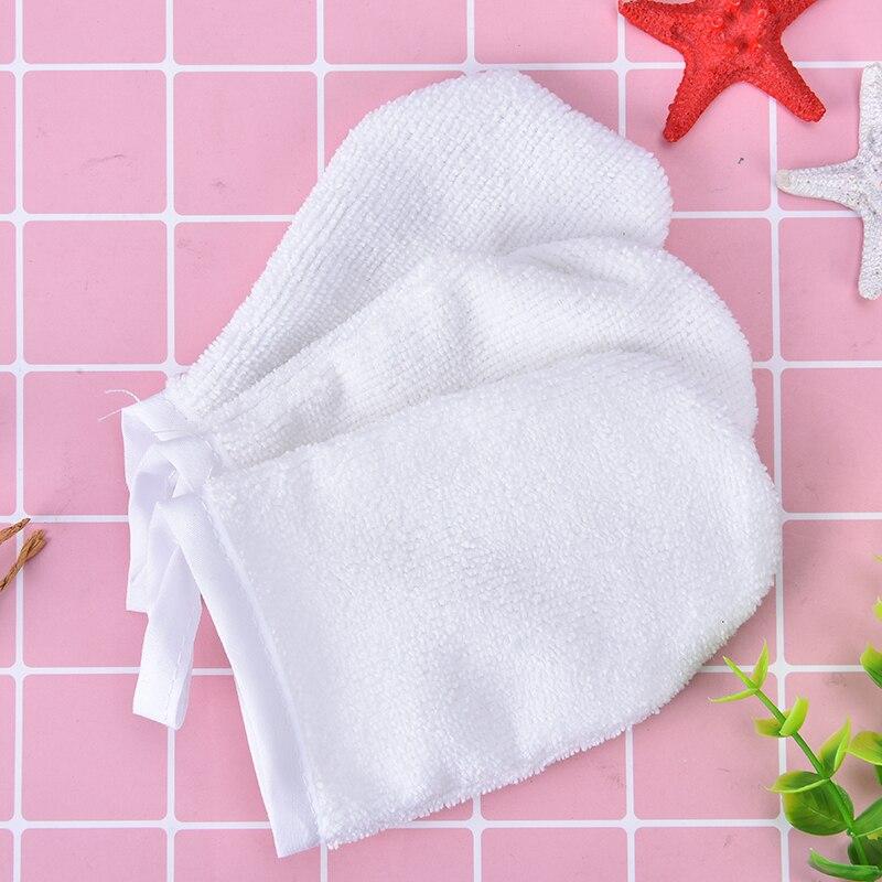 Cleansing Glove Tool 12cm x 8.5cm 1PC White Reusable Microfiber Facial Cloth Face Towel Makeup Remover