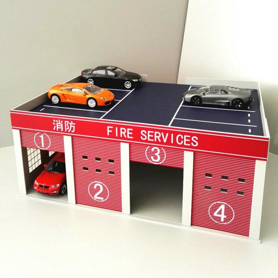 1/43 1/50 camión de bomberos Universal MODELO garaje recuerdos de fuego logística escena arena mesa para arquitectura modelo y kits de Juguetes