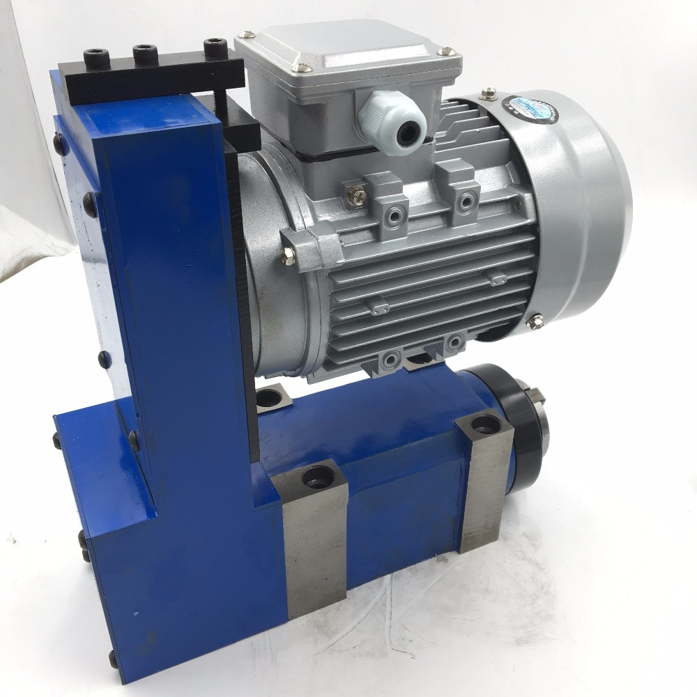 1.5KW 2HP MT3 BT30 ER32 Power Head v-belt Unidad de husillo 2500rpm 6000rpm con Motor de inducción CNC fresadora cortadora