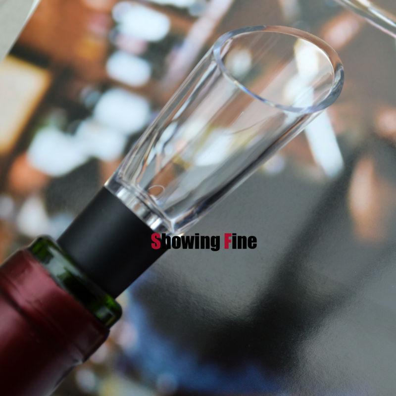 Vertedor de vino de buena calidad hecho de calidad alimentaria PC SGS estándar verter y aireador de whisky y pico de Alcohol