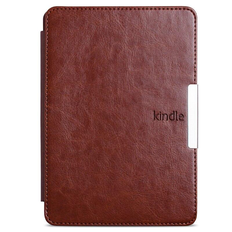 Para kindle paperwhite Funda de cuero elegante estilo Vintage e-book cubierta para amazon kindle paperwhite1 2 3 2015 2014 2013 2016 funda