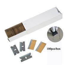 """EHDIS 100x1,5 """"лезвия для бритвы из углеродистой стали для автомобильного скребка для клея керамическая духовка стеклянная Лопата для чистки Клея Аксессуары"""