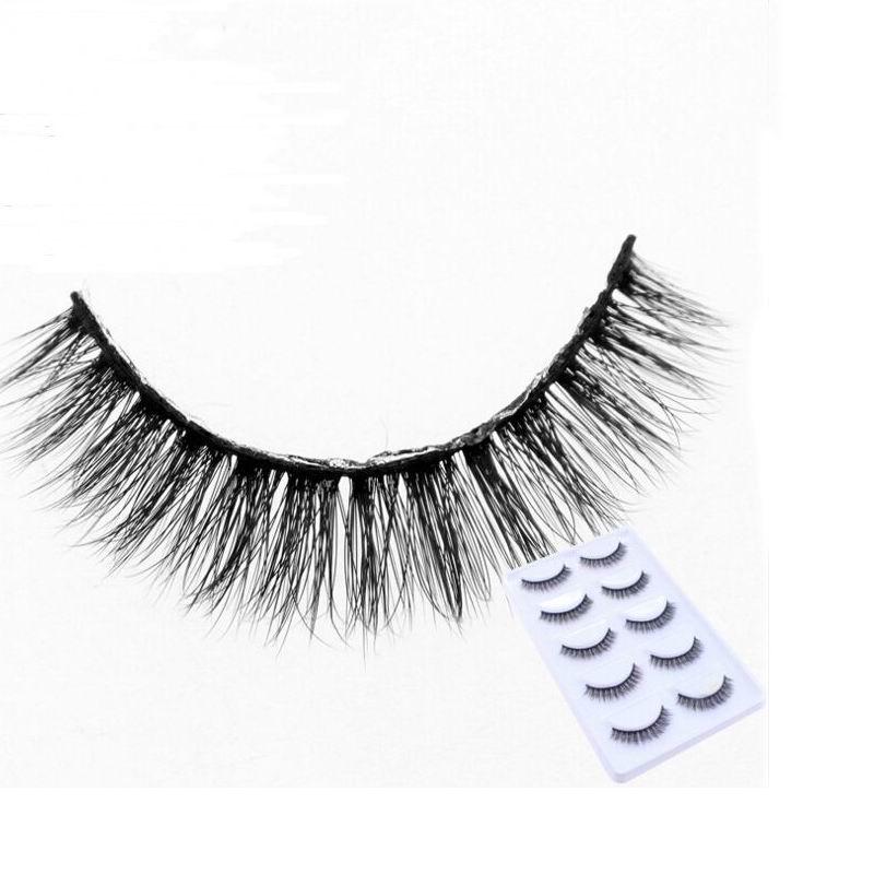 NEW 5 Pairs makeup false eyelashes natural thick 100% real 3d mink lashes fur strip fake eye lashes