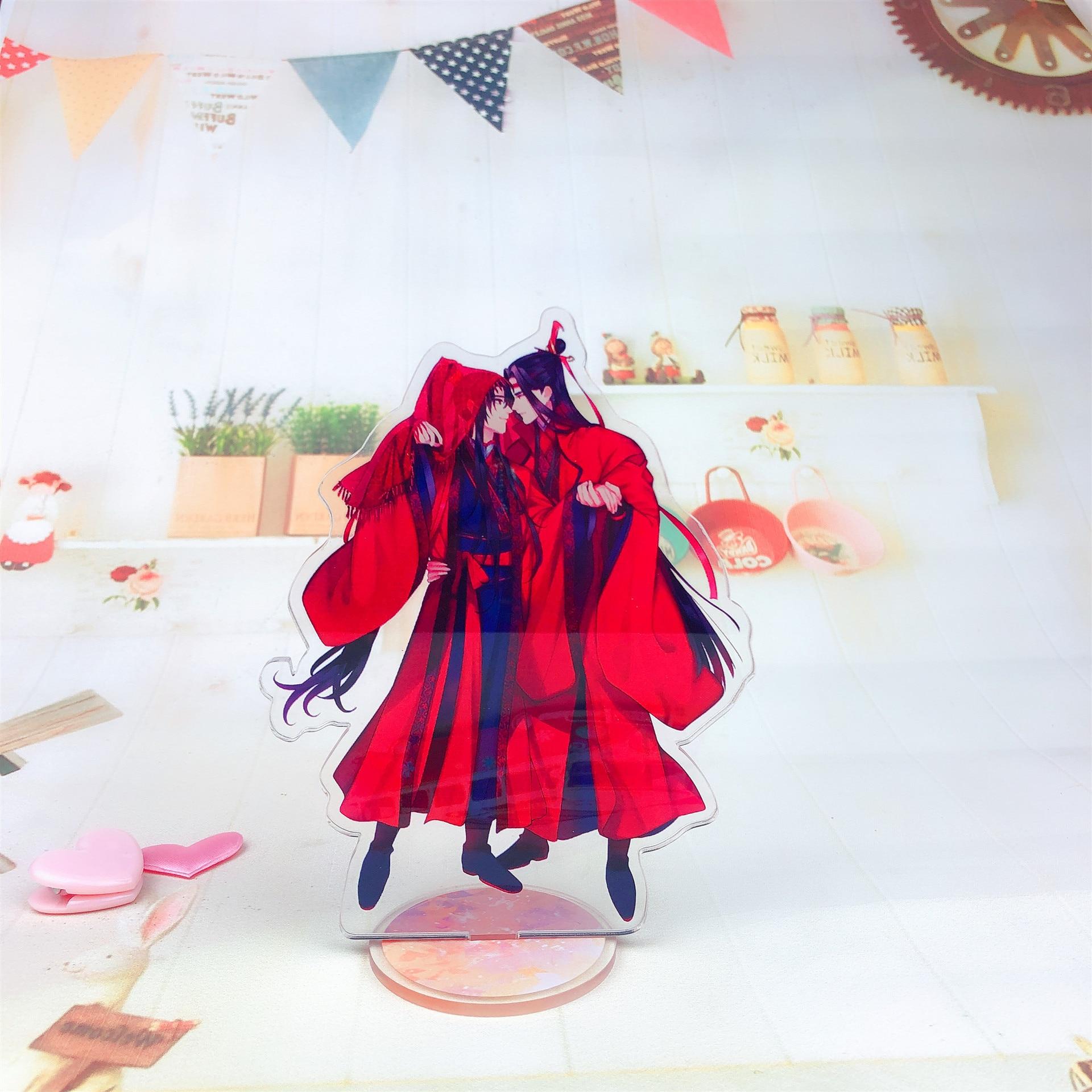 Decoración Para el hogar modelo de placa de pie acrílica con número completo de 15CM de Anime mo dao zhu Shian Guan Ci fu regalo