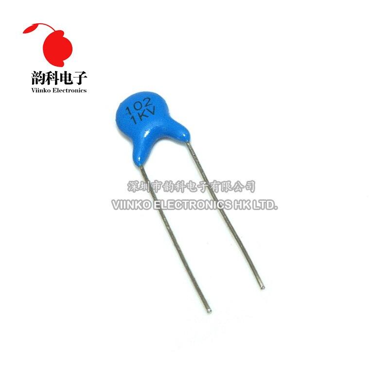 20 piezas de alta tensión condensador de cerámica 1KV 1nF 102