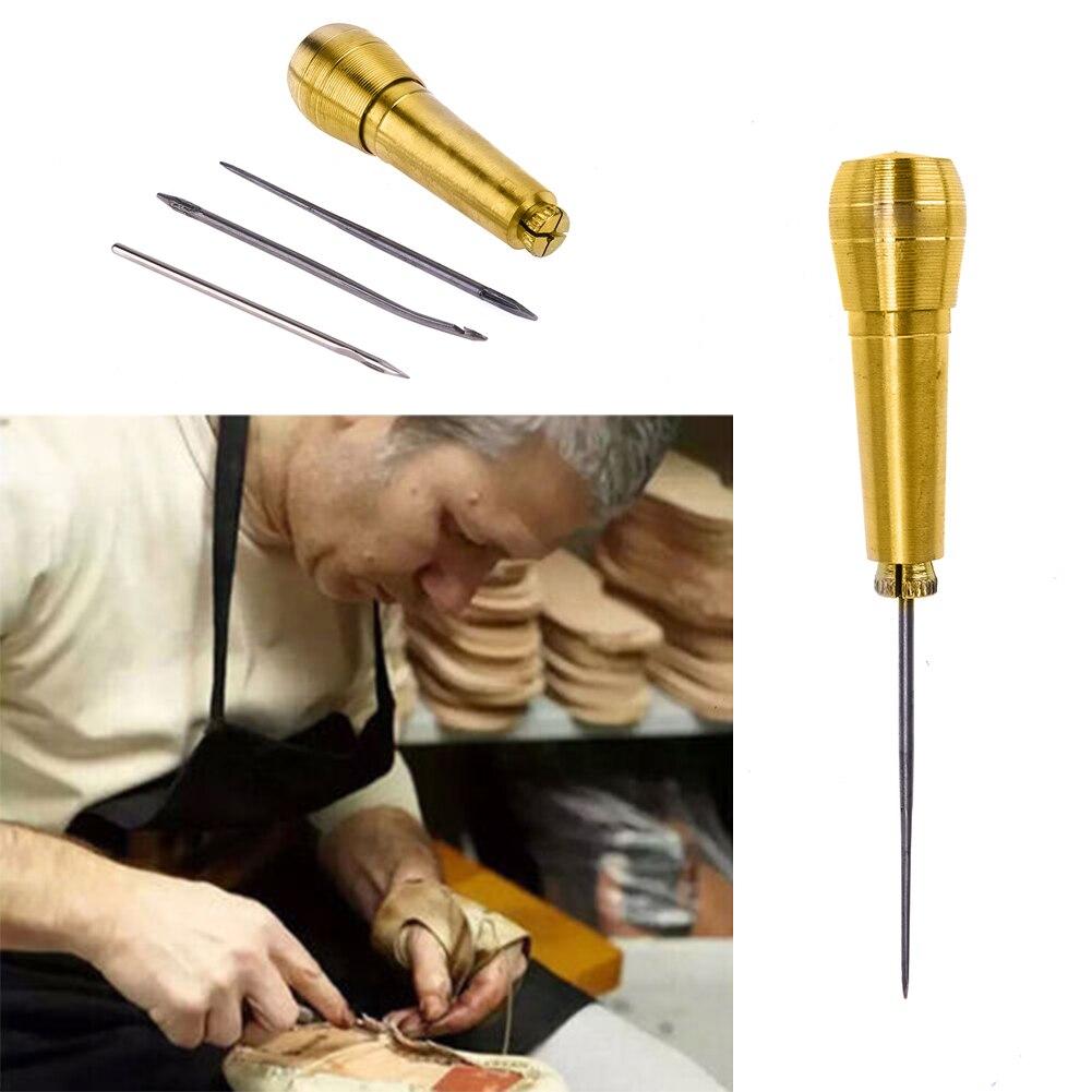 VKTECH набор инструментов для ремонта кожаных холщовых туфель, набор шила для шитья игл с медной ручкой