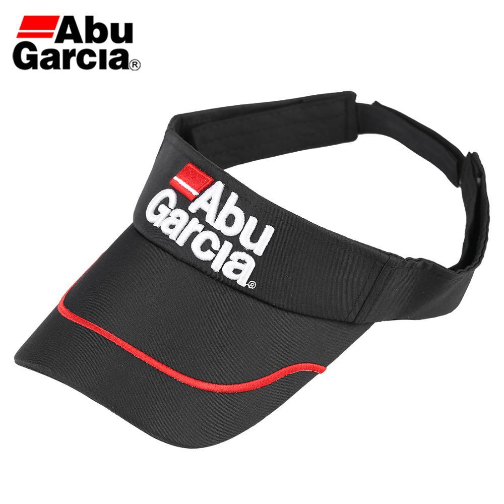 Abu garcia marca preto sol viseira chapéu unisex pesca golfe boné de beisebol esportes ao ar livre ajustável bonés pesca tackles