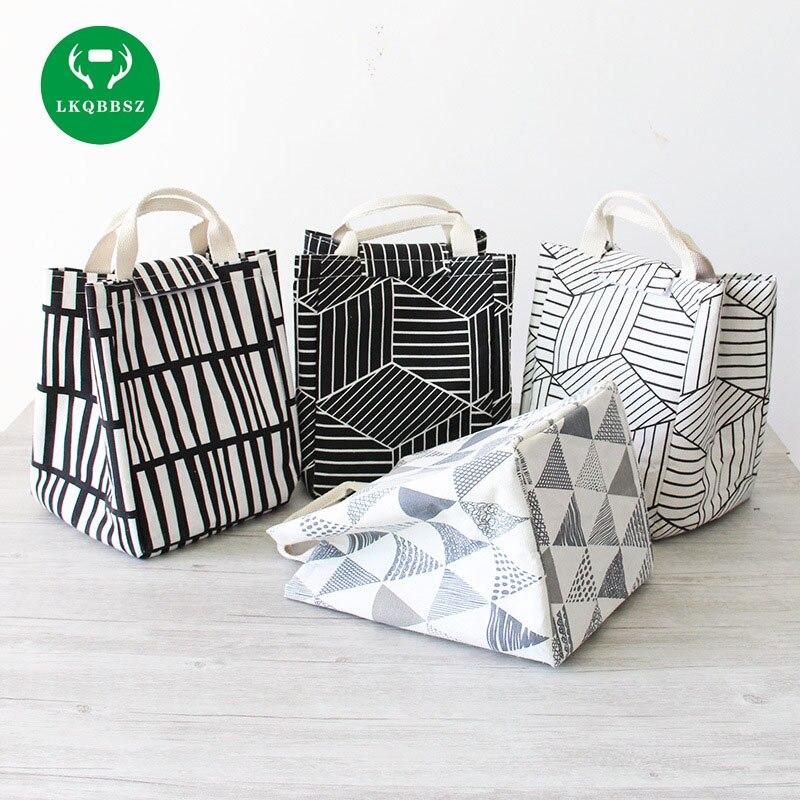 Thicken Canvas Picnic Bag Insulation Cold Bag Handbag Bag refrigerator bolsa termica Cooler Lunch Box Thermo lancheira