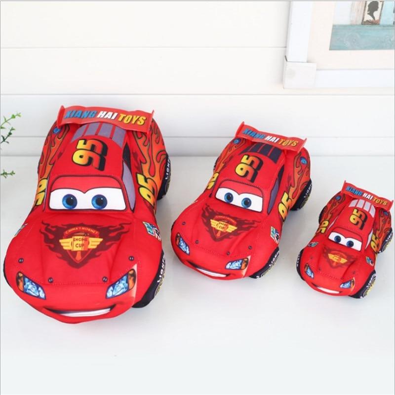 Машинки Disney Pixar, детские игрушки 17 см 25 см 35 см, плюшевые игрушки Маккуин, милые Мультяшные машинки, плюшевые игрушки, лучший подарок для дете...