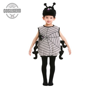 Child Spider Vest Costume Child Animal Costumes Kids Boys and Girls Halloween Party Costume