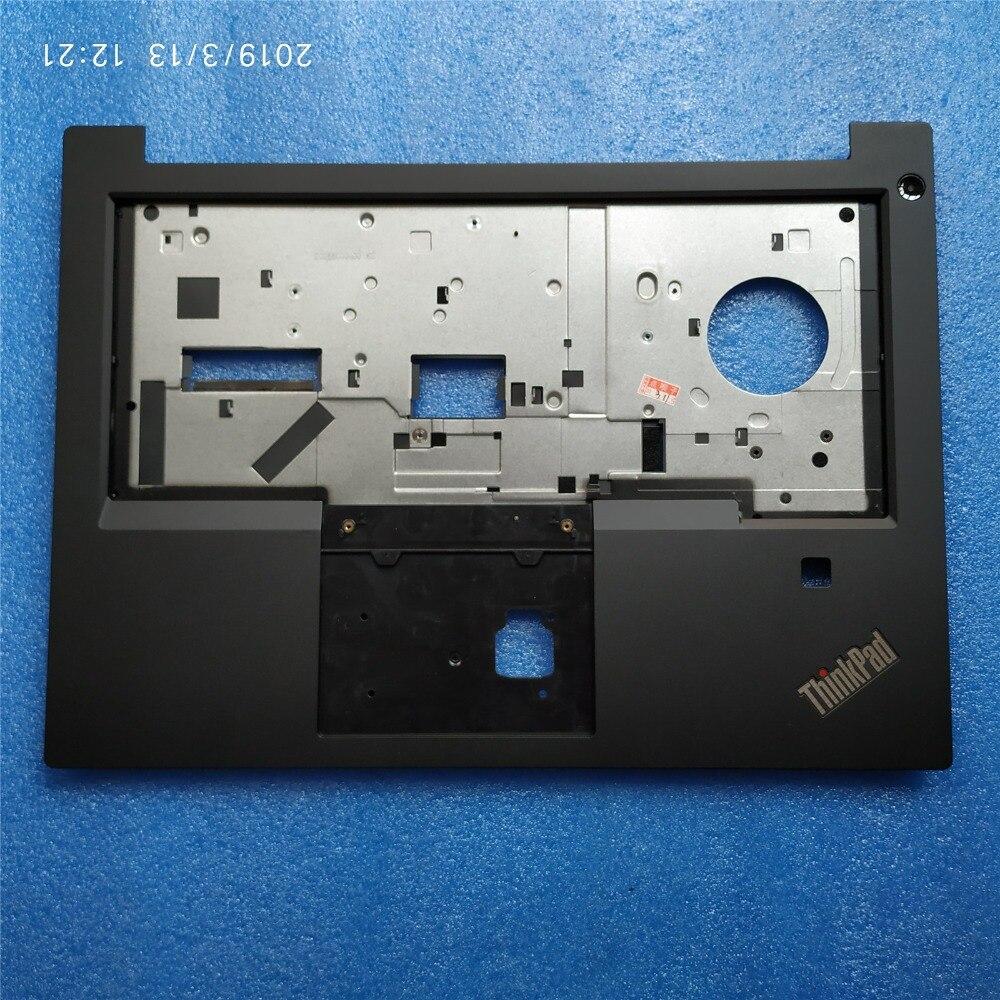 Orig-غطاء علوي للوحة المفاتيح Lenovo ThinkPad E480 E490 R480 R490 ، مع فتحة بصمة ، 01LW160 02DL685 ، جديد