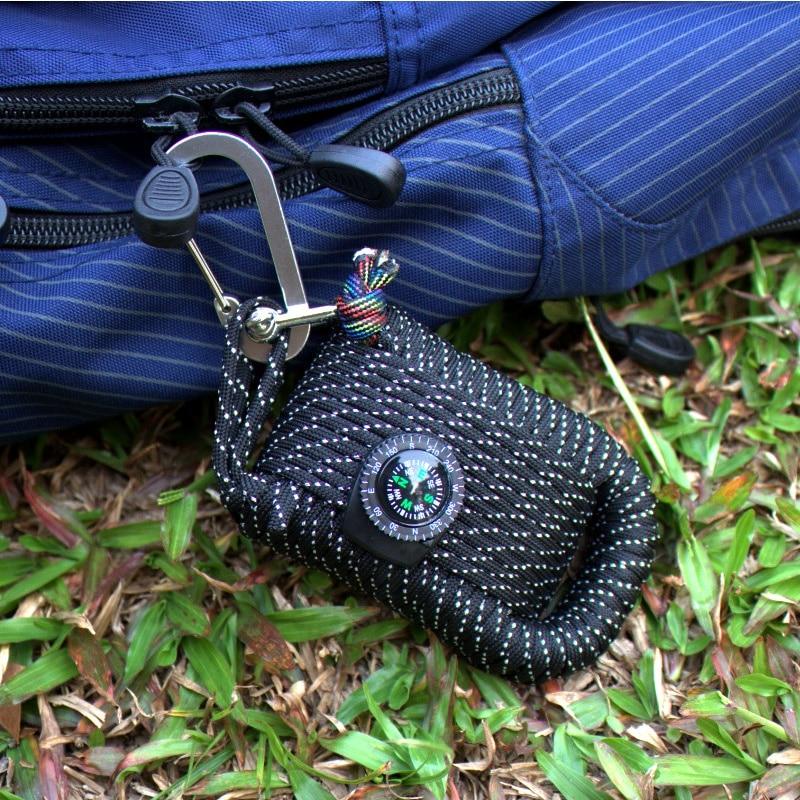 2018, bolsa de equipo de emergencia SOS para acampar al aire libre, senderismo, caja de supervivencia en el campo, equipo de caja de autoayuda para acampar, senderismo, sierra/fuego s