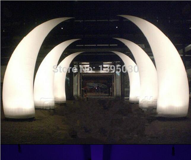 Inflatable tube LED inflatable light with inner blower for hotel celebration dinning room 77cm diameter /2.8m height