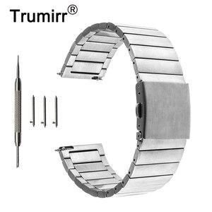 22mm 23mmStainless Steel Watch Band Quick Release Strap for Orient Folding Buckle Wrist Belt Bracelet Black Rose Gold Silver