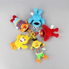 10pcs/Lot 13CM Sesame Street Elmo Cookie Big Bird Ernie Bert Plush keychain Toys Stuffed Pendant Dolls 5 styles to choose