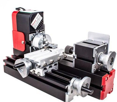 DIY инструмент большой мощности Мини Металл токарно-ротационный станок, 20 Вт 20000об/мин мотор, один набор миниатюрных металлических многофункциональных машин