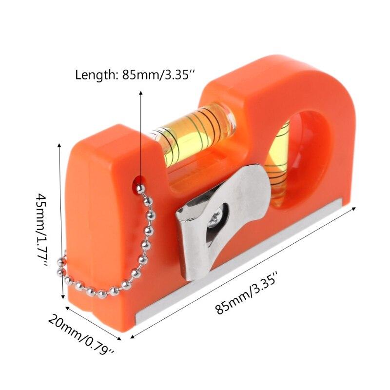 Mini porte-clés règle de niveau avec Base aimantée V rayure niveau à bulle pince 85*45*19.5mm