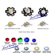 100PCS 3W High Power LED Chip Light Beads White Red Blue IR light-emitting diode