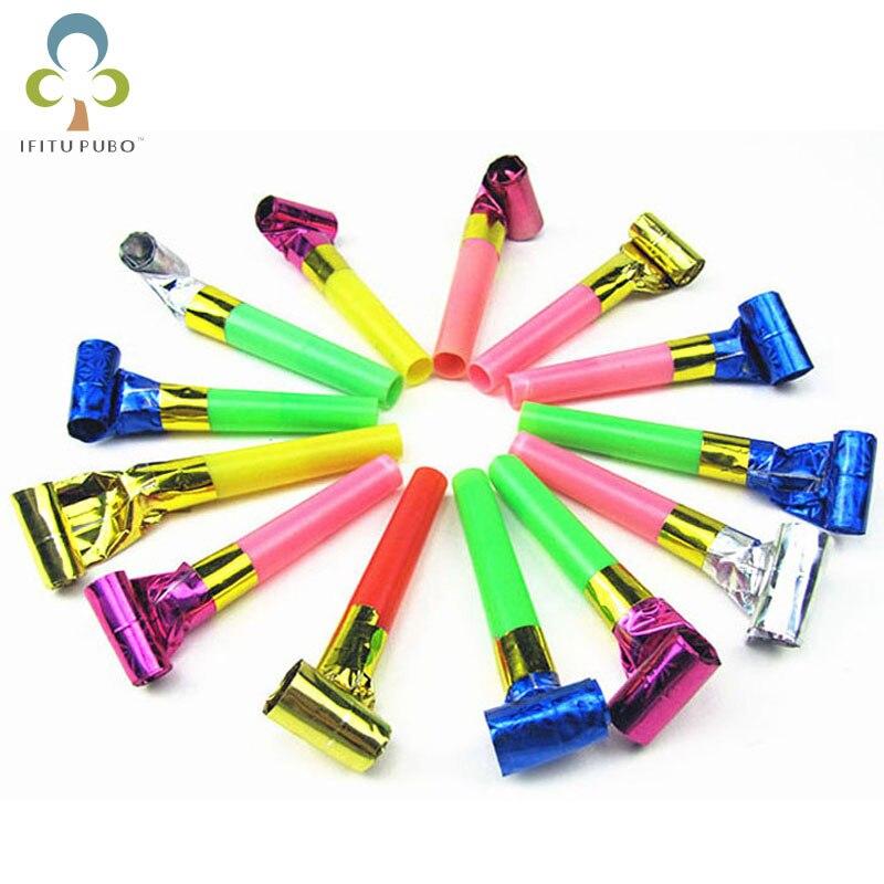 10 unids/lote dragón soplador suministros de fiesta de cumpleaños para niños Utilería de jardín de infancia juego de silbato para niños Premio WYQ