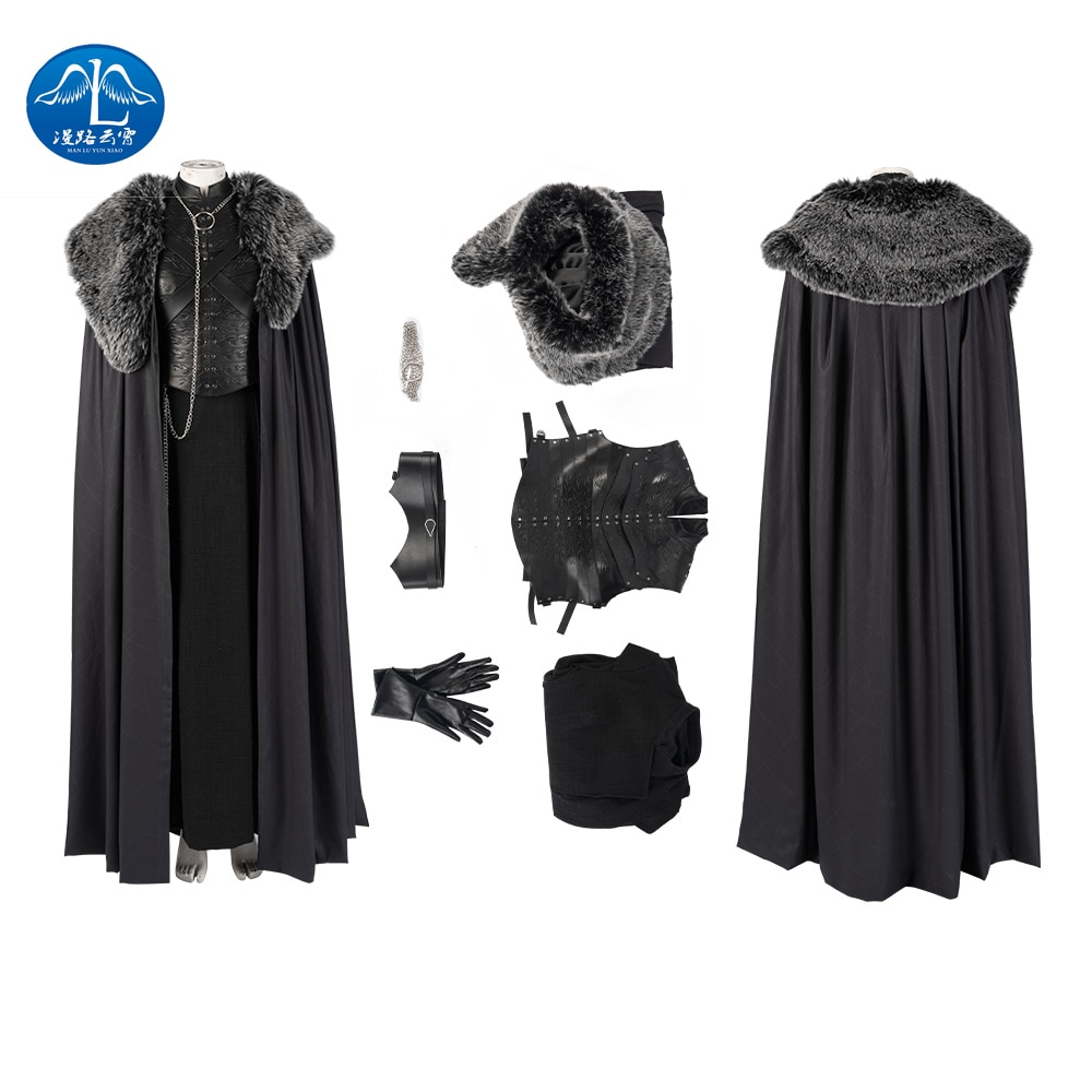 Manluyunxiao Game of Thrones Cosplay Costume Sansa Stark Cosplay Dress Cloak Outfit Custom Made Halloween Accessories