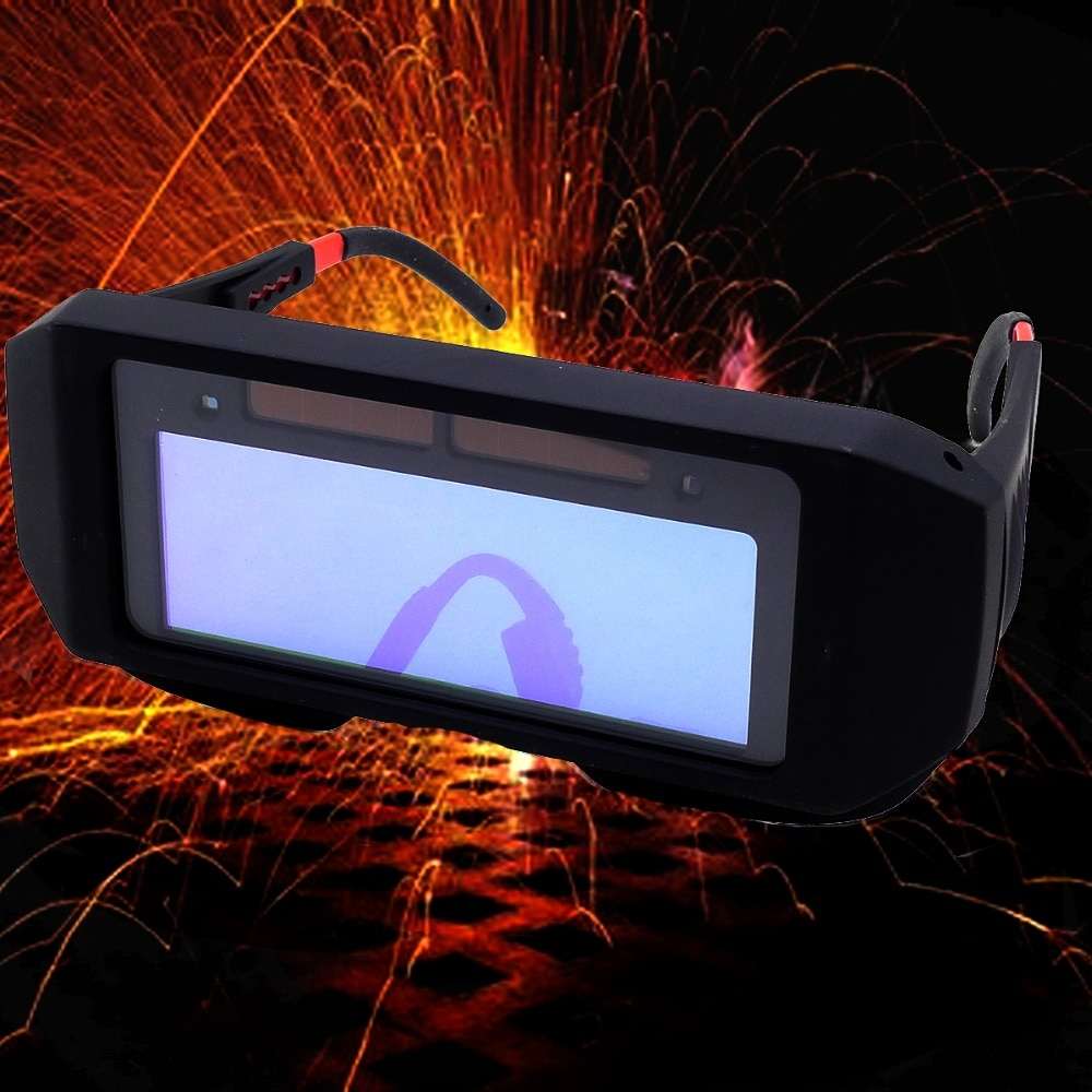 Ru armazém movido a energia solar escurecimento automático capacete de soldagem máscara de vidro de soldagem 1 pçs