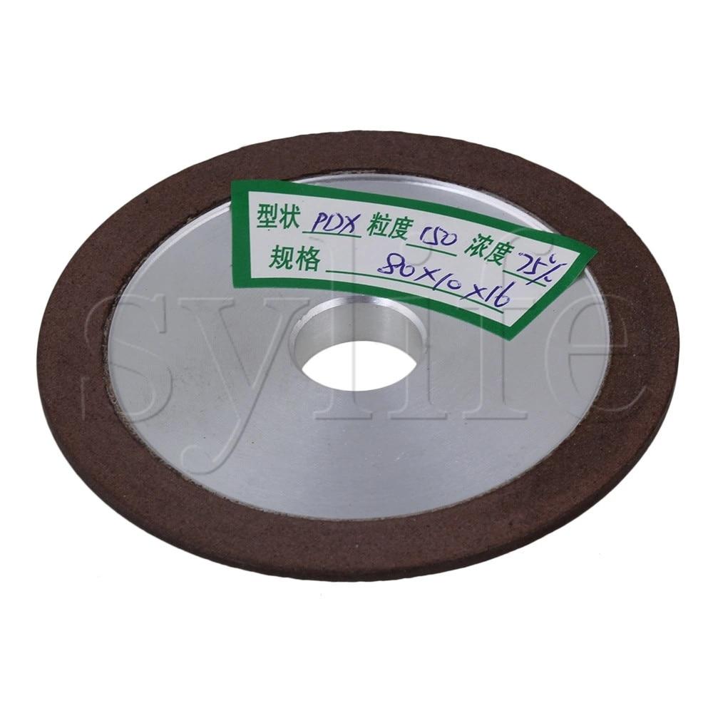 80x10x16 мм алюминиевый Алмазный диск плоский шлифовальный диск режущий инструмент зернистость 150 #