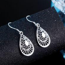 Groothandel voor vrouwen mode Zilveren kleur mode charms wedding leuke retro earring luxe sieraden mooie stamped, LE040
