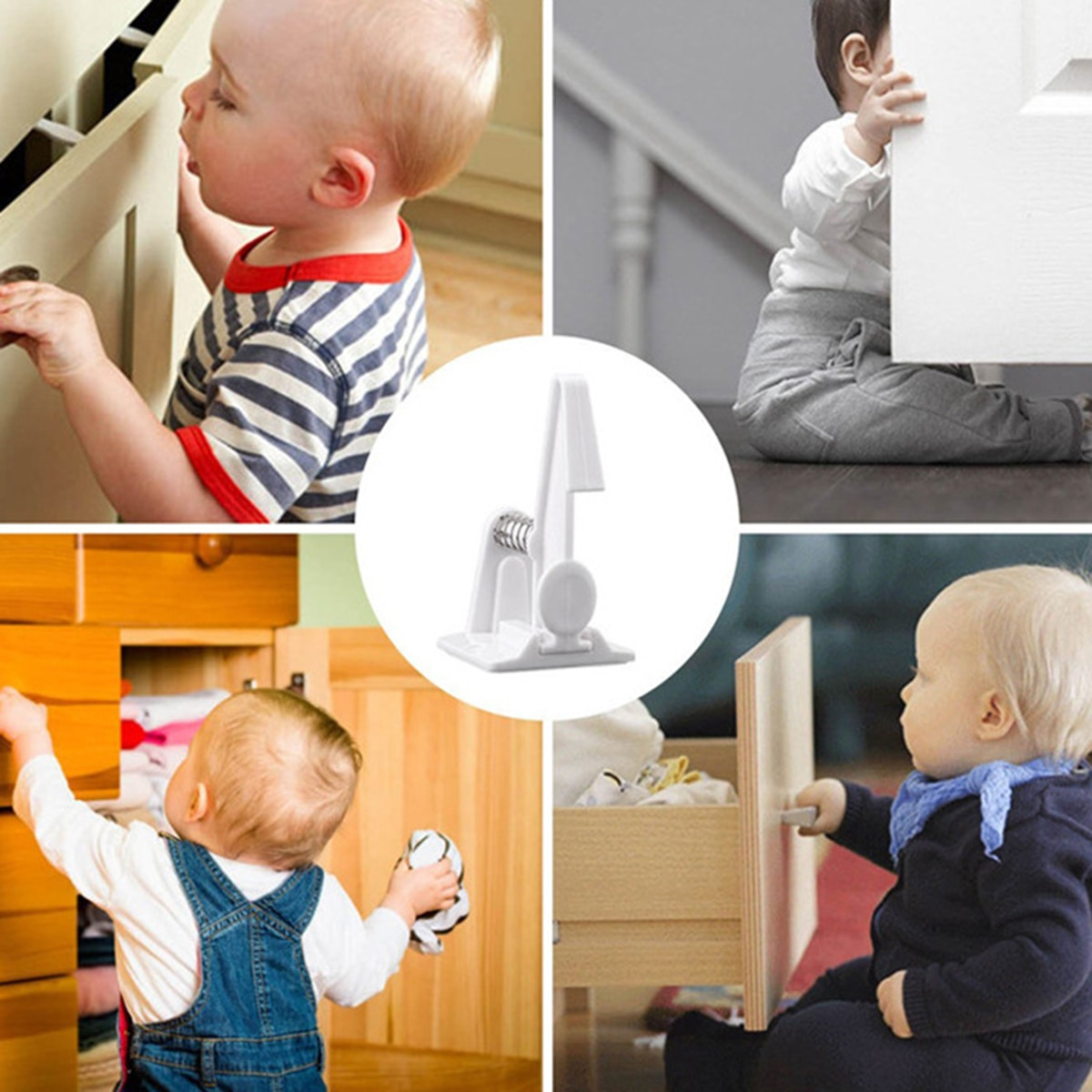 Children Safety Lock Baby Security Cabinet Drawer Door Lock Kids  8Pcs/Lot Protection Baby Safety lock