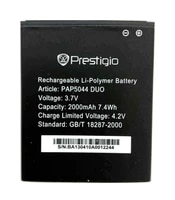 pap5044 duo 5044 2000mah quality replacement li ion battery for prestigio multiphone battery