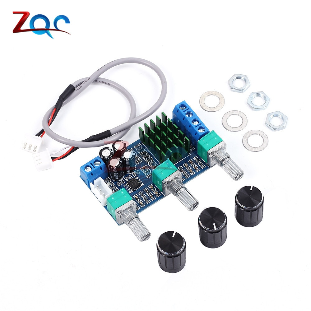 TPA3116D2 Amplifier Module DC 12 -24V 80Wx2 Dual Channel Digital Audio Treble Bass Regulating Preset Pre Amplifier Board