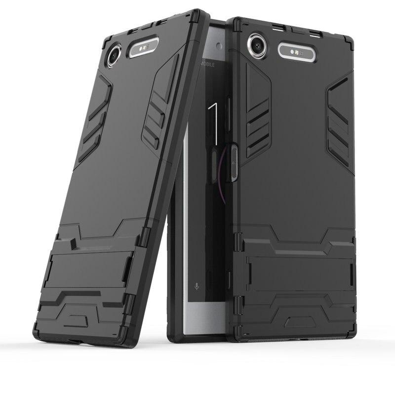 3D Combo armadura caso para Sony Xperia XZ1 G8342 G8341 para Sony Xperia XZ1 compacto a prueba de golpes caso de la contraportada del teléfono Fundas Coque