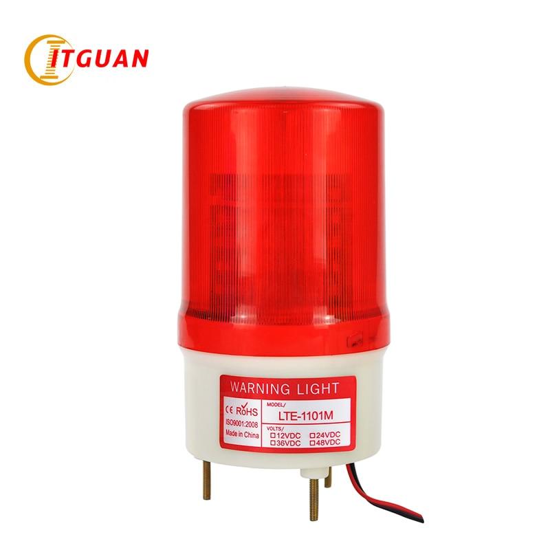 Предупреждающий сигнал AC110V, 220 В, 12 В, 24 В, LTE-1101M, красный светодиод, аналоговый вращающийся аварийный стробоскоп, сигнальная лампа, автомобил...