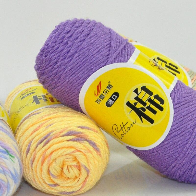 Hilados para ganchillo de algodón de encaje de gran calidad, 8 Uds., 400 g/lote, ganchos, ovillo de hilo para tejido de bufanda, hilo de lana para bebé