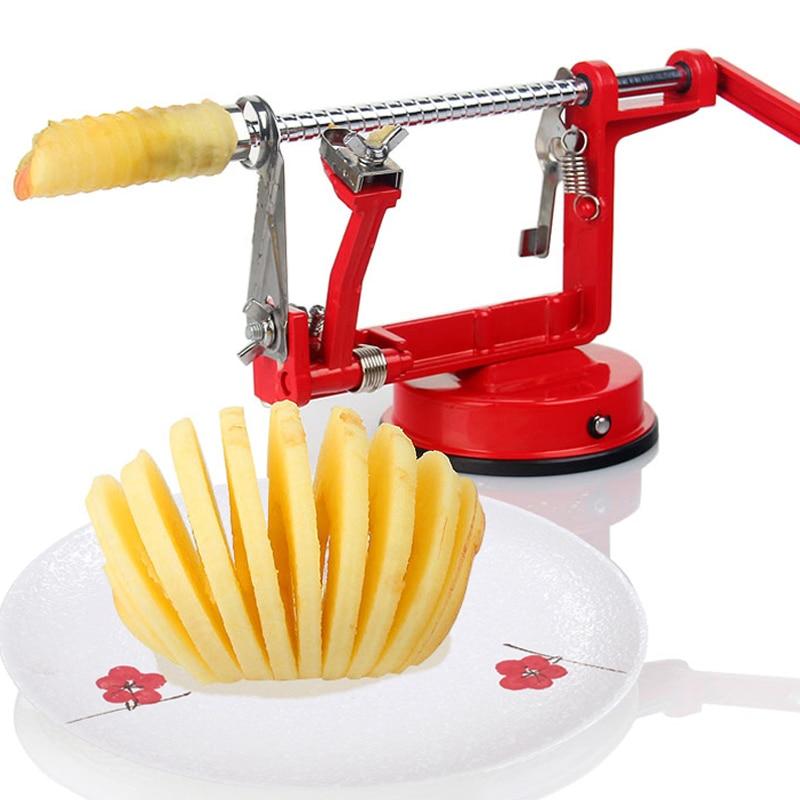 3 in1 ferramentas de frutas maçã slinky máquina descascador cortador de frutas slicer utensílios de cozinha apple peeling máquina (0153)