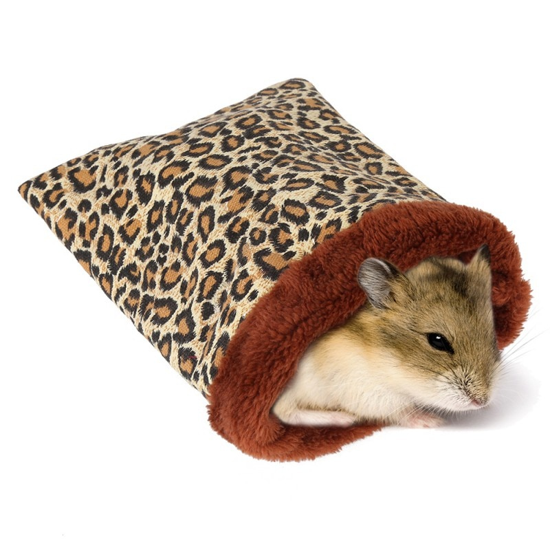 Cama cálida para hámster, casa de felpa suave, cama de conejillo de indias, nido de rata, pequeños animales, ratón, saco de dormir, casa, accesorios, jaula para hámster