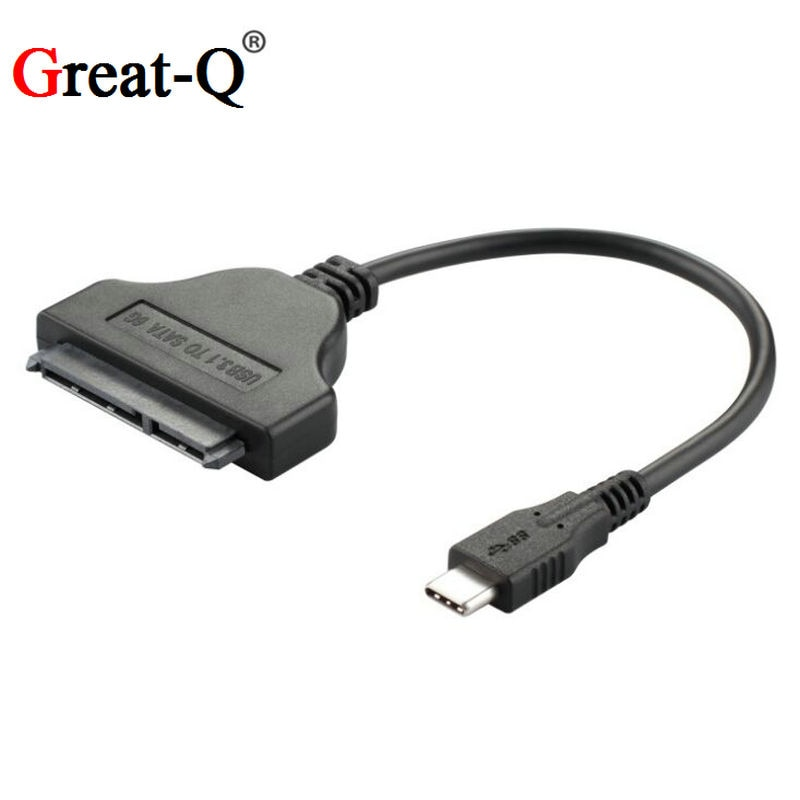 "De alta calidad tipo C USB 3,1 de macho a SATA 22 Pin 2,5 ""Controlador de disco duro Cable adaptador SSD para Macbook Chromebook soporte OTG"