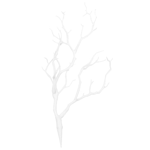 Branco seco artificial 36*22cm da decoração da casa do casamento do ramo da árvore da planta quente 3 pces