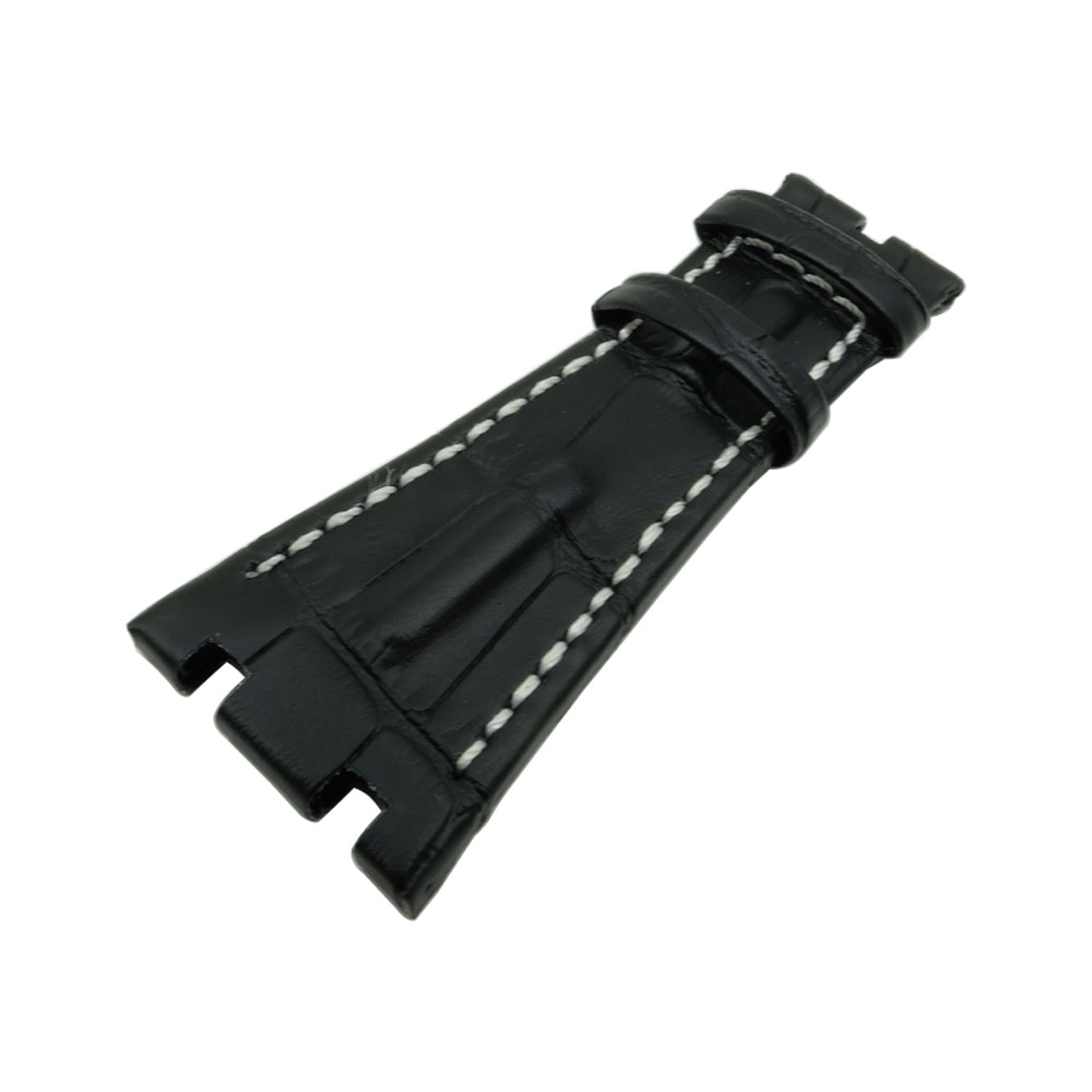 New 28mm Black Brown Genuine Leather Wacth Strap Band  for AP Fit for Audemars for Piguet  Watchband + Tool
