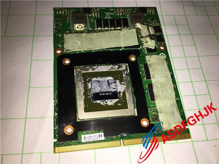 الأصلي ل MSI Gt70 Ms-1763 سلسلة الرسومات مجلس GTX 770 متر بطاقة الفيديو Ms-1w0b1 N14e-gs-a1 اختبارها بالكامل